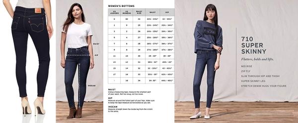 Purchase Levi's Women's 710 Super Skinny Jeans, Dusk Rinse, 34 (US 18) L on Amazon.com