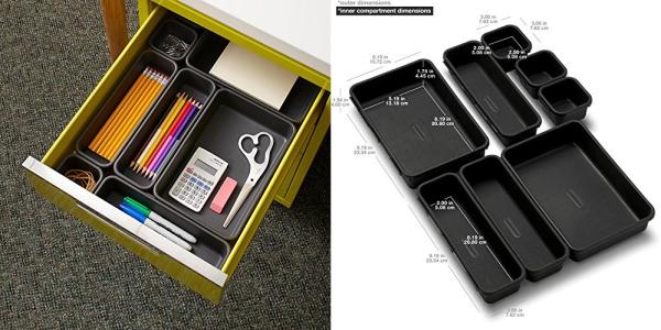 Purchase madesmart Value 8-Piece Interlocking Bin Pack - Granite, Customizable Multi-Purpose Storage on Amazon.com