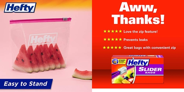 Purchase Hefty Slider Storage Bags Quart Size, 40 Count, Pack of 3 on Amazon.com
