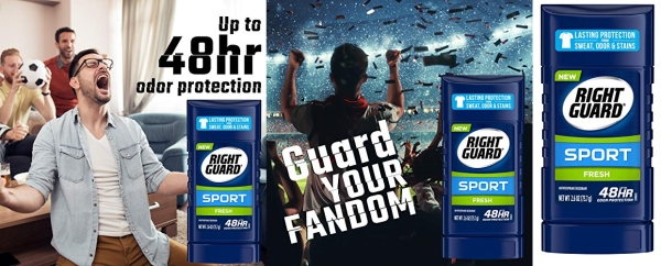 Purchase Right Guard Sport Antiperspirant Deodorant Invisible Solid Stick, Fresh, 2.6 Ounce (Pack of 6) on Amazon.com