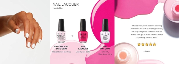 Purchase OPI Nail Polish, Nail Lacquer, Alpine Snow, White Nail Polish, 0.5 Fl Oz on Amazon.com