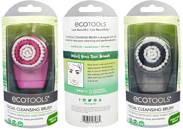 Purchase EcoTools Gentle Pore Cleansing Face Brush, Scrubber For Facial Skincare and Beauty, Great for Sensitive Skin on Amazon.com