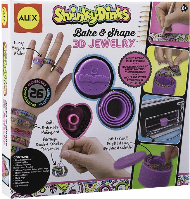 Purchase Shrinky Dinks Bake and Shape 3D Jewelry at Amazon.com
