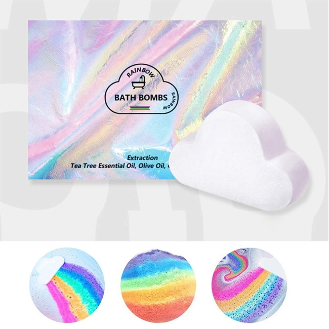 Purchase Rainbow Cloud Bath Bomb, Gift Box Wrapped at Amazon.com