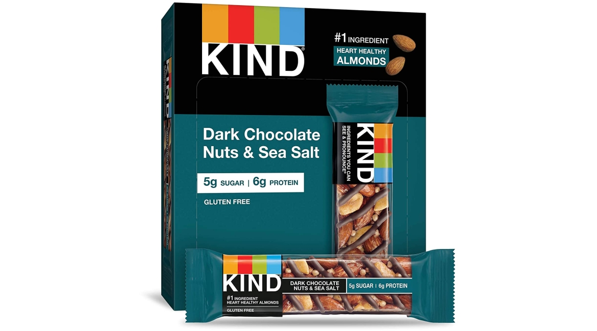 Purchase KIND Bars, Dark Chocolate Nuts & Sea Salt, Gluten Free, Low Sugar, 1.4oz, 12 Count at Amazon.com