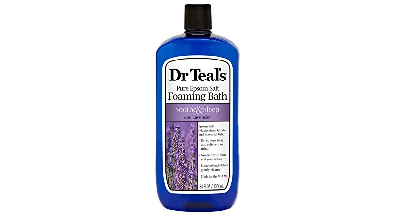 Purchase Dr Teals Foaming Bath with Pure Epsom Salt, Soothe & Sleep with Lavender, 34 Ounces at Amazon.com