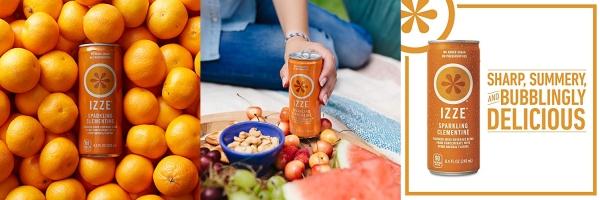 Purchase IZZE Sparkling Juice, Clementine, 8.4 oz Cans, 24 Count on Amazon.com