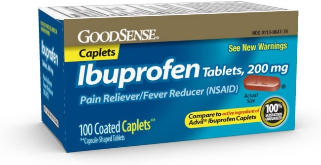 Purchase GoodSense Ibuprofen Tablets, 200 mg, Pain Reliever and Fever Reducer, 100 Count, Temporarily Relieves Minor Aches and Pains Due to: Headaches, Minor Pain of Arthritis, and the Common Cold at Amazon.com