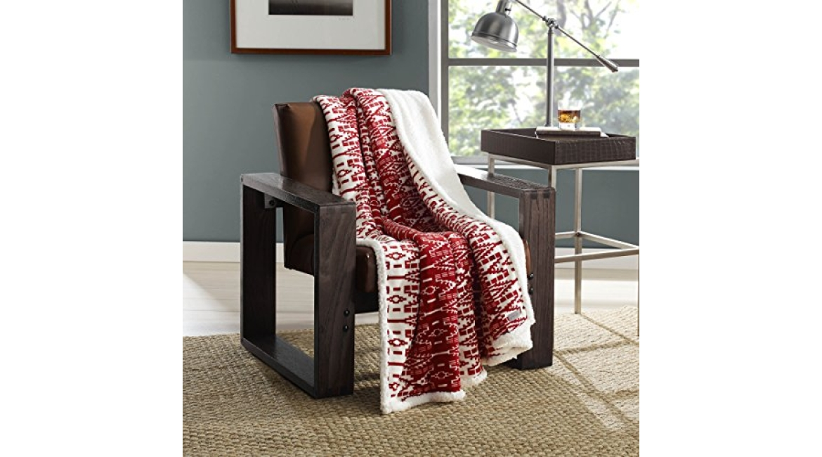 Purchase Eddie Bauer, Ultra-Plush Collection, Throw Blanket-Reversible Sherpa Fleece Cover, Soft & Cozy, Perfect for Bed or Couch, San Juan Red Clay at Amazon.com