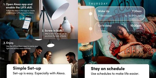 Purchase Echo Flex - Plug-in mini smart speaker with Alexa LIFX Smart Bulb (Wi-Fi) on Amazon.com