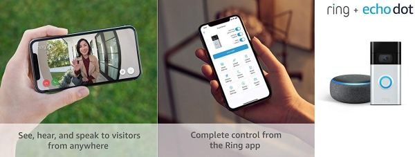 Purchase All-new Ring Video Doorbell, Satin Nickel (2020 release) with Echo Dot on Amazon.com