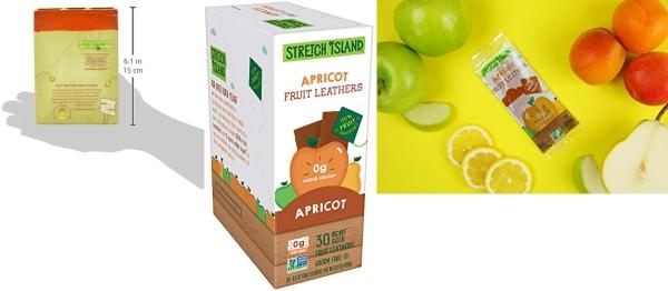 Purchase Stretch Island Apricot Original Fruit Leather Snacks  Vegan, Gluten Free, Non-GMO, No Sugar Added - 0.5 Oz Strips (30 Count) on Amazon.com