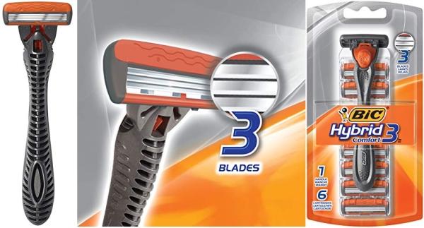 Purchase BIC Comfort 3 Hybrid Men's Razor, 1 Handle 6 Cartridges on Amazon.com