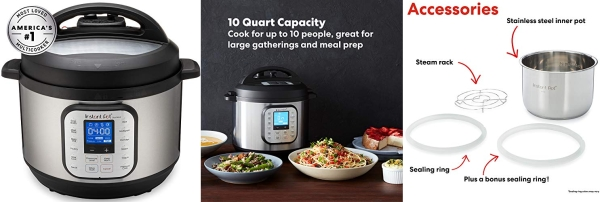 Purchase Instant Pot Duo Nova Pressure Cooker 7 in 1, 10 Qt, Best for Beginners on Amazon.com