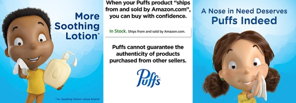 Purchase Puffs Plus Lotion Facial Tissues, 8 Family Boxes, 120 Tissues per Box on Amazon.com