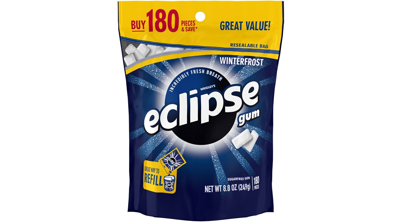 Purchase Eclipse Winterfrost Sugarfree Gum, 180 Piece Bag at Amazon.com