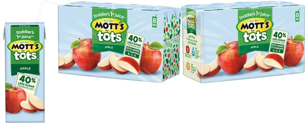 Purchase Mott's For Tots Apple, 6.75 Fluid Ounce Box, 8 Count (Pack of 4) on Amazon.com