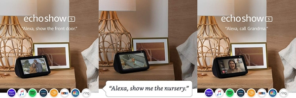 Purchase Echo Show 5 -- Compact smart display with Alexa - Charcoal on Amazon.com