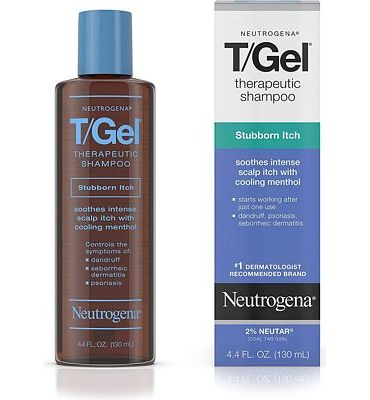 Purchase Neutrogena T/Gel Therapeutic Stubborn Itch Shampoo with 2% Coal Tar, Anti-Dandruff Treatment with Cooling Menthol for Relief of Itchy Scalp due to Psoriasis & Seborrheic Dermatitis, 4.4 fl. oz at Amazon.com