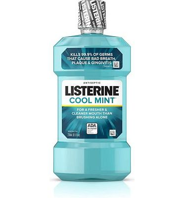 Purchase Listerine Cool Mint Antiseptic Mouthwash for Bad Breath, Plaque and Gingivitis, 250 ml at Amazon.com