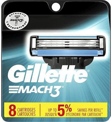 Purchase Gillette Mach3 Men's Razor Blades, 8 Blade Refills at Amazon.com