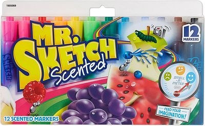 Purchase Mr. Sketch Scented Markers, Chisel Tip, Assorted Colors, 12 Pack at Amazon.com