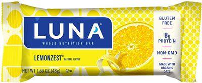 Purchase LUNA BAR - Gluten Free Bar - Lemon Zest Flavor - (1.69 Ounce Snack Bar, 15 Count) at Amazon.com
