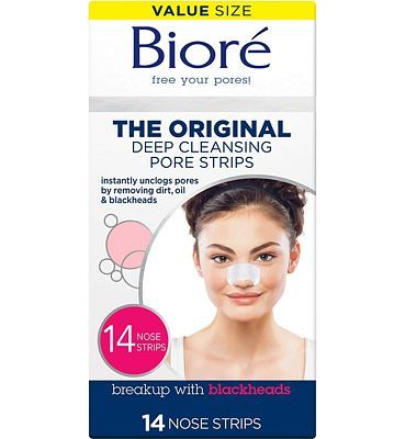 Purchase Biore Most Trusted Blackhead Removing and Pore Unclogging Deep Cleansing Pore Strip Cruelty Free, Vegan, Oil-Free & Non-Comedogenic (14 Count) at Amazon.com