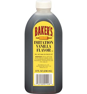 Purchase Baker's Imitation Vanilla Flavor, 8 fl oz at Amazon.com