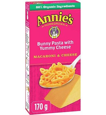 Purchase Annie's Bunny Shape Pasta & Yummy Cheese Macaroni & Cheese, 6 Ounce, Pack of 12 at Amazon.com