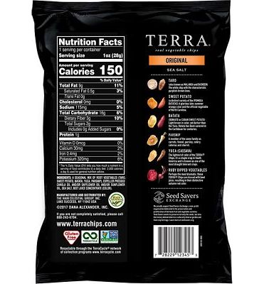 Purchase TERRA Original Chips with Sea Salt, 1 oz. (Pack of 24) at Amazon.com