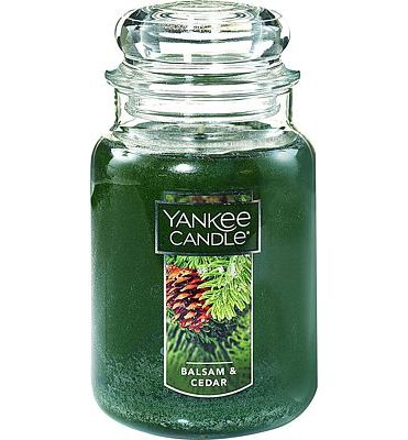 Purchase Yankee Candle Large Jar Candle Balsam & Cedar at Amazon.com