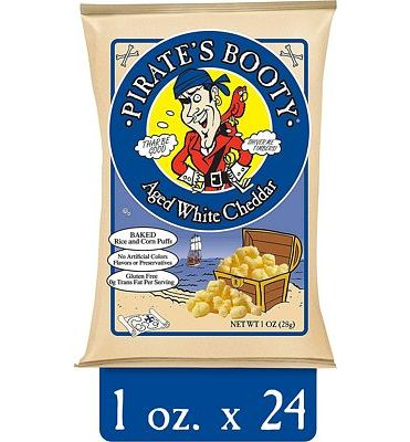 Purchase Pirate's Booty Snack Puffs, Aged White Cheddar, 1 Ounce (Pack of 24) at Amazon.com