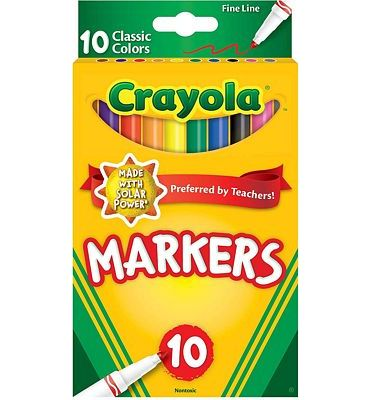 Purchase Crayola Original Marker Set, Fine Tip, Assorted Classic Colors, Set of 10 at Amazon.com