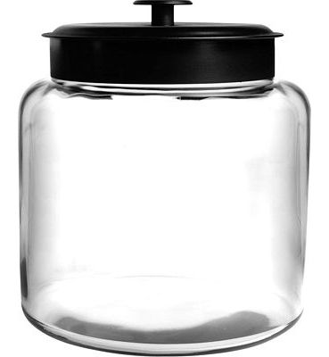 Purchase Anchor Hocking 1.5 Gallon Montana Glass Jar with Fresh Seal Lid, Black Metal at Amazon.com