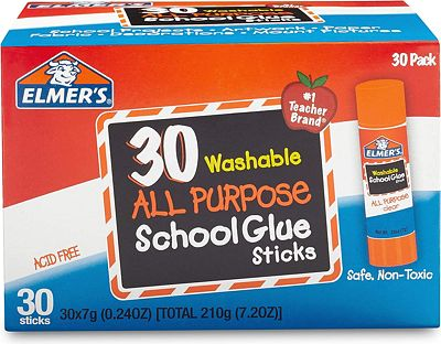 Purchase Elmer's All Purpose School Glue Sticks, Washable, 7 Gram, 30 Count at Amazon.com