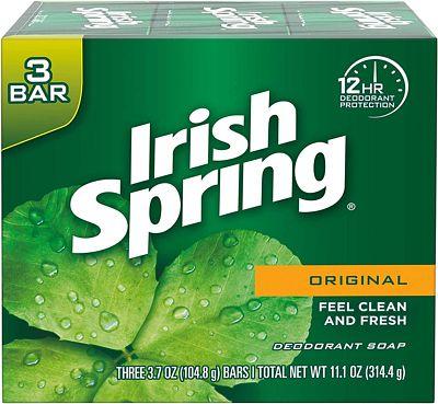 Purchase Irish Spring Deodorant Bar Soap, Original, 3 Bar at Amazon.com