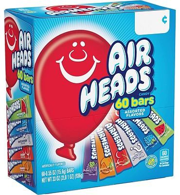 Purchase Airheads Bars Chewy Fruit Candy, Variety Pack, Party, Non Melting, 60 Count at Amazon.com