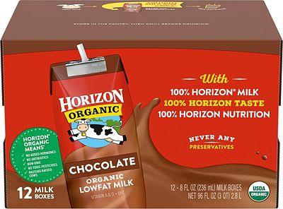 Purchase Horizon Organic UHT Chocolate Milk Boxes, 1% Single Serve, 8 Oz., 12 Count at Amazon.com