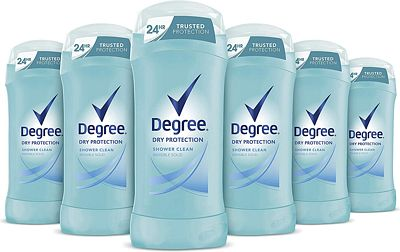 Purchase Degree Women Dry Protection Antiperspirant Deodorant, Shower Clean, 2.6 oz (Pack of 6) at Amazon.com