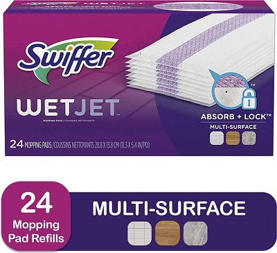 Purchase Swiffer Wetjet Hardwood Mop Pad Refills for Floor Mopping and Cleaning, All Purpose Multi Surface Floor Cleaning Product, 24 Count at Amazon.com