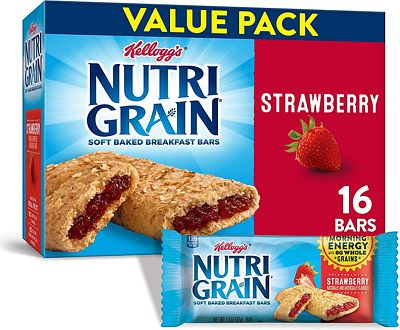Purchase Kellogg's Nutri-Grain, Soft Baked Breakfast Bars, Strawberry, Made with Whole Grain, Value Pack, 3 Packages of 20.8 oz (16 Count) at Amazon.com