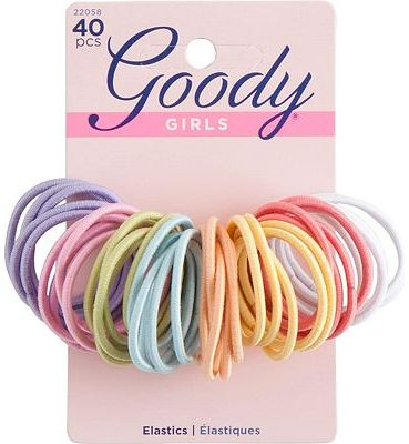 Purchase Goody Ouchless Medium Hair Elastics 2mm, 40 Count (Assorted colors) at Amazon.com