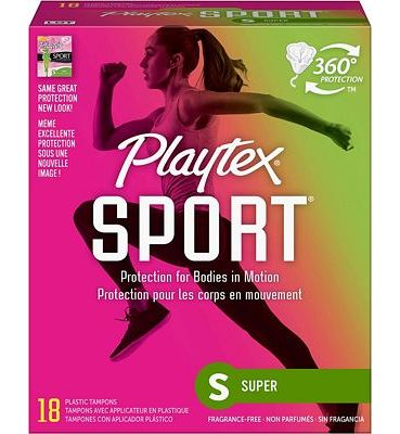 Purchase Playtex Sport Tampons with Flex-Fit Technology, Super, Unscented - 18 Count at Amazon.com