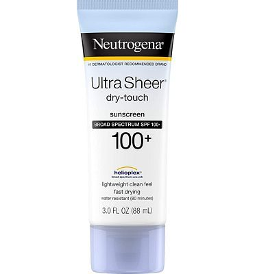 Purchase Neutrogena Ultra Sheer Dry-Touch Water Resistant and Non-Greasy Sunscreen Lotion with Broad Spectrum SPF 100+, 3 fl. oz at Amazon.com