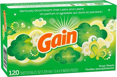 Purchase Gain Original Dryer Sheets, 120 Count at Amazon.com