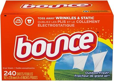 Purchase Bounce Fabric Softener and Dryer Sheets, Outdoor Fresh, 240 Count at Amazon.com
