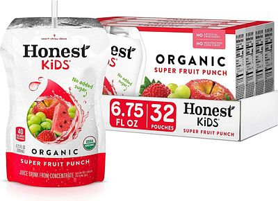 Purchase Honest Kids Super Fruit Punch Organic Fruit Juice Drink, 6.75 Fl. Oz, 32 Pack at Amazon.com