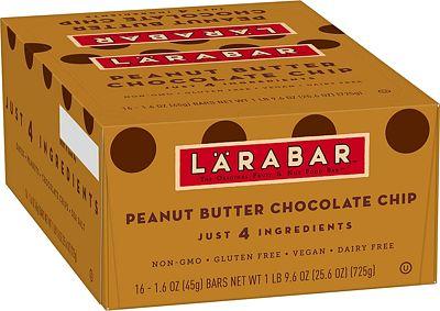 Purchase LRABAR Larabar Gluten Free Bar, Peanut Butter Chocolate Chip, 1.6 oz Bars (16 Count) at Amazon.com