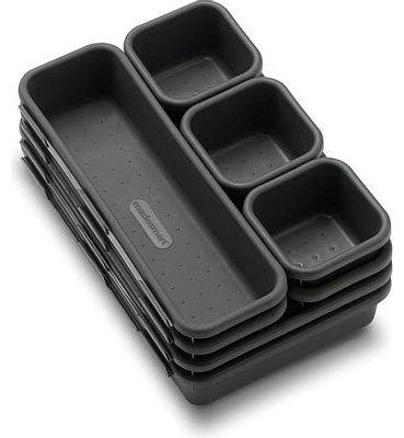 Purchase madesmart Value 8-Piece Interlocking Bin Pack - Granite, Customizable Multi-Purpose Storage at Amazon.com